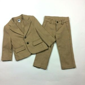 Janie & Jack 2T Herringbone Suit Jacket Pants